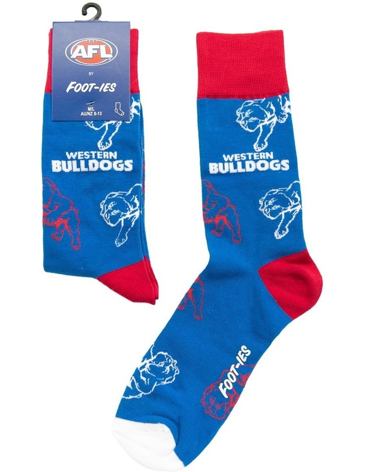 AFL Western Bulldogs Large Logos Sock image 1