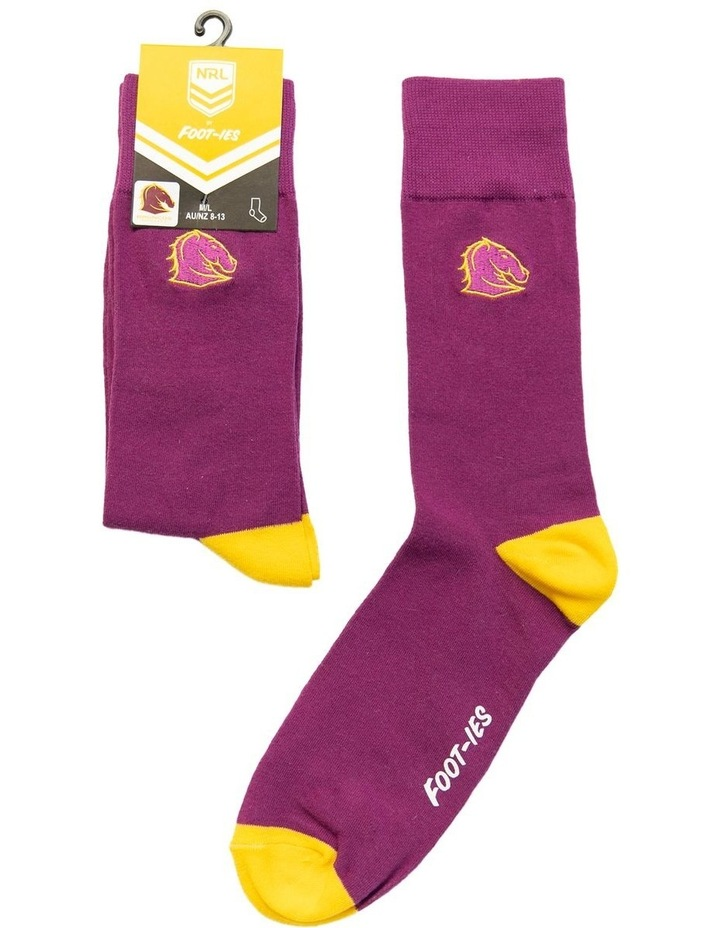 NRL Brisbane Small Embroidery Sock image 1