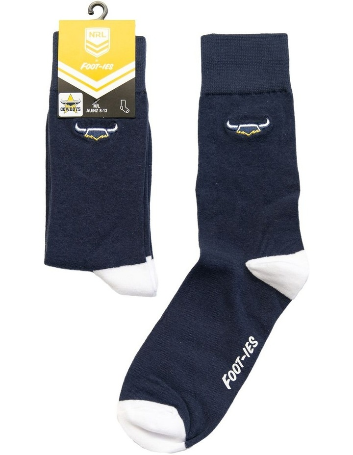 NRL North Queensland Cowboys Small Embroidery Sock image 1