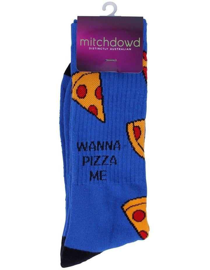 Wanna Pizza Me Sports Crew Sock image 2
