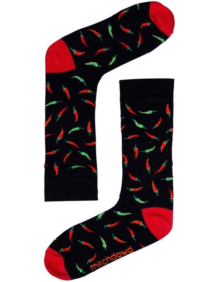 2 Pack Chillis & Chameleons Bamboo Socks image 2