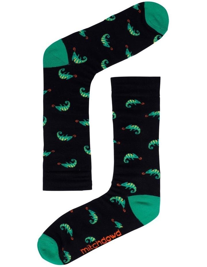 2 Pack Chillis & Chameleons Bamboo Socks image 3