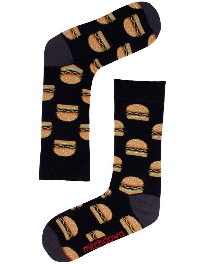 3 Pack Burger, Beer & Pizza Socks image 2
