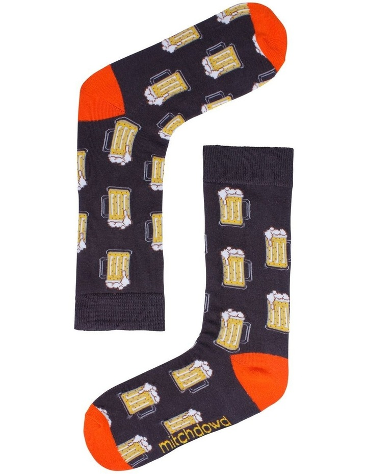 3 Pack Burger, Beer & Pizza Socks image 3
