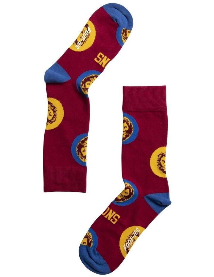 AFL Brisbane Lions Logo Dots Sock image 1