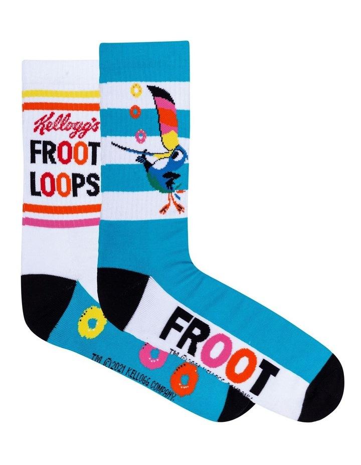 2 Pack Fruit Loops Crew Socks image 1