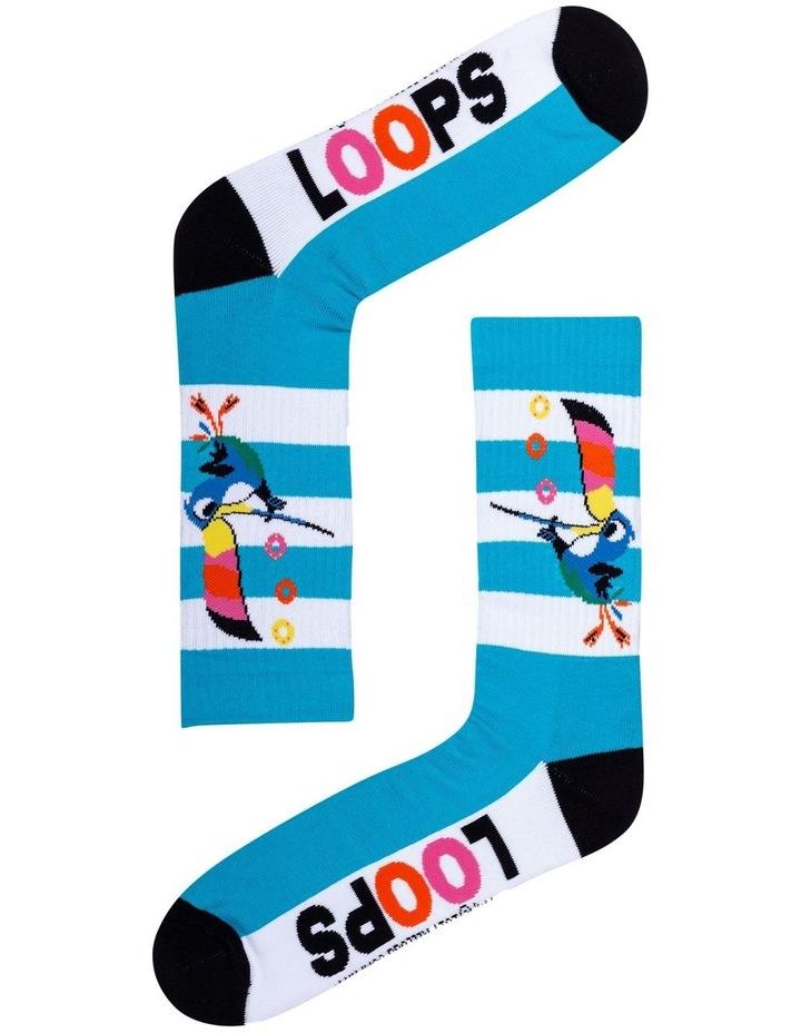 2 Pack Fruit Loops Crew Socks image 3