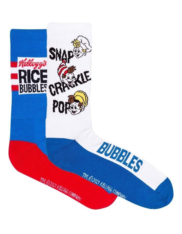 2 Pack Rice Bubbles Crew Socks image 1