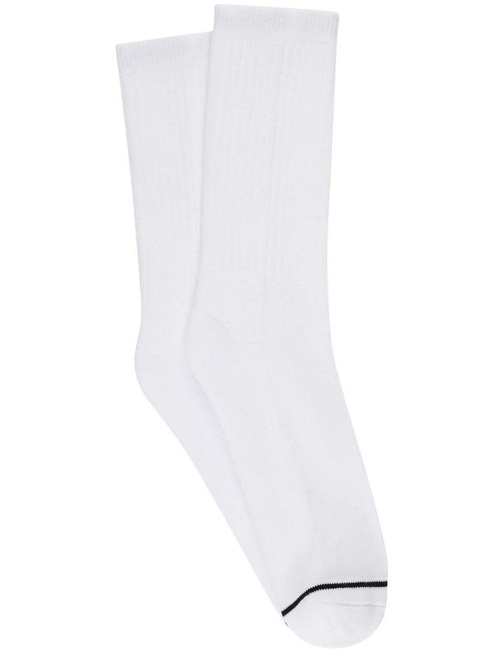 Chesty Organic Casual Socks 2 Pack  White image 1