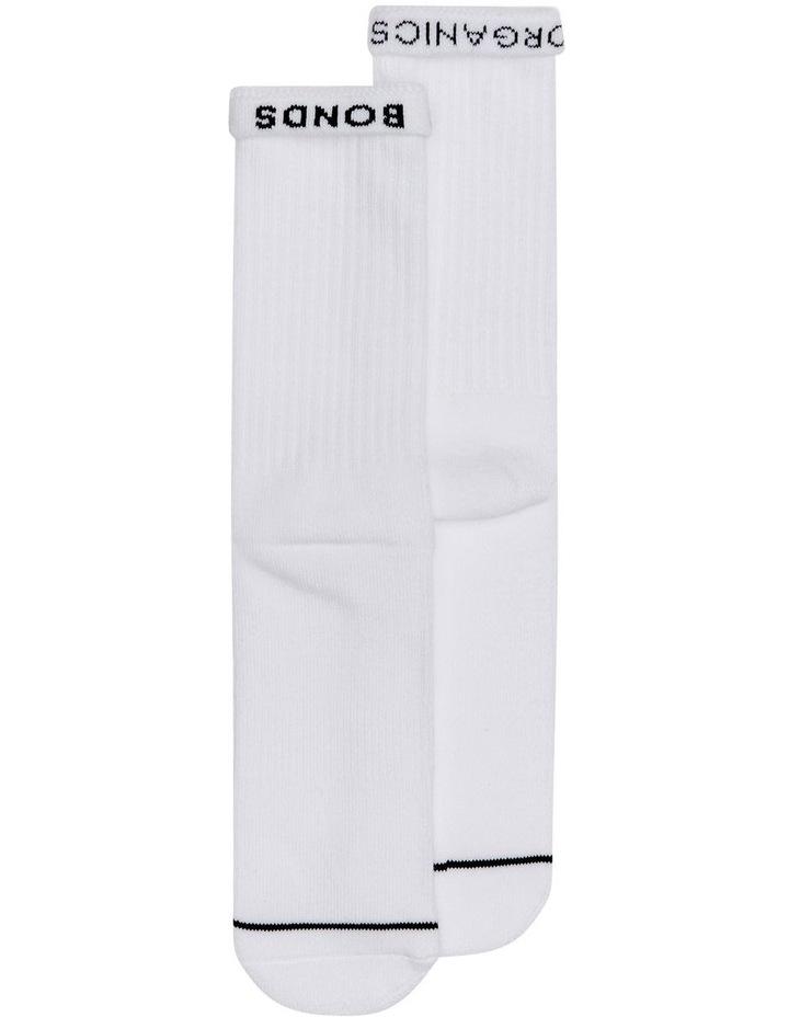 Chesty Organic Casual Socks 2 Pack  White image 2