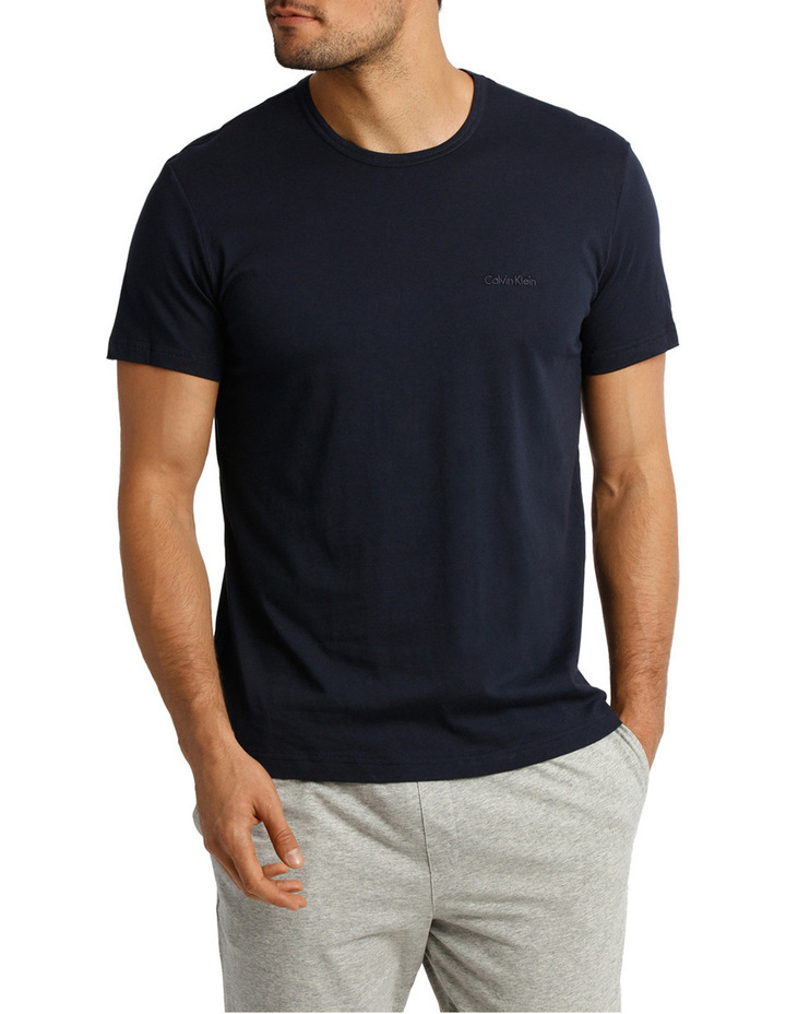 Short Sleeve Crew Neck Sleep Tee image 1