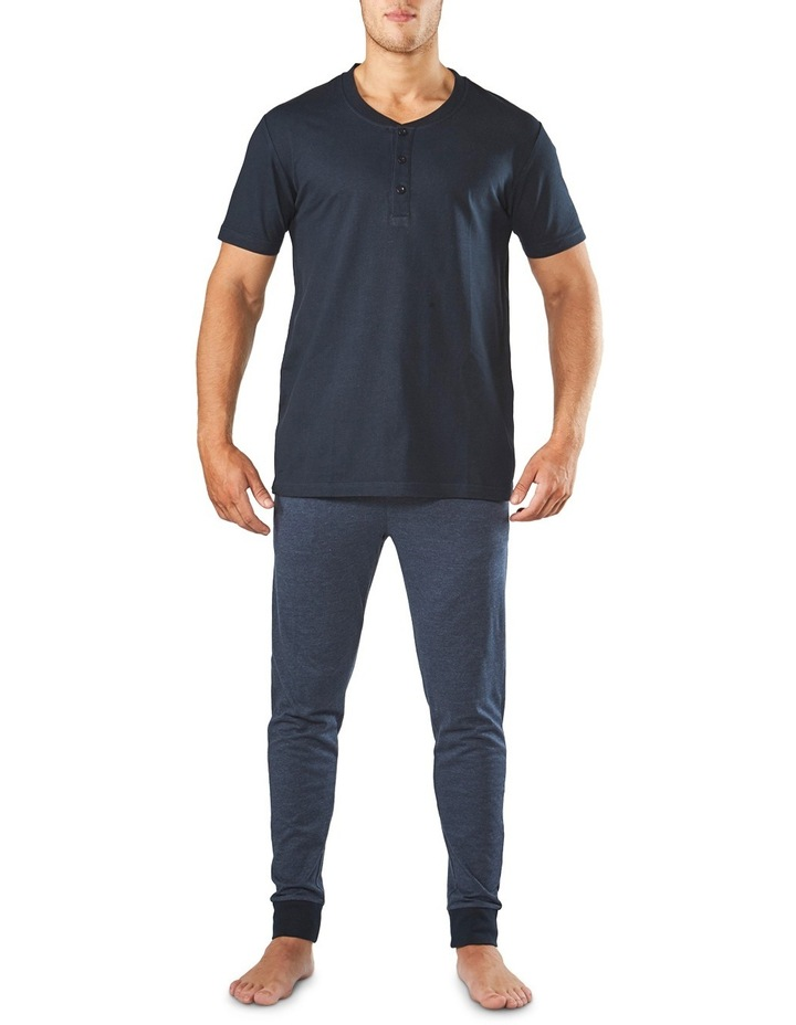 Henley Short Sleeve Sleep Tee image 1