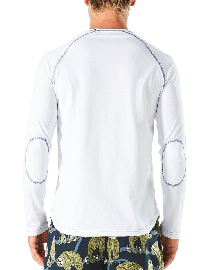 Long Sleeve Contrast Stitch Raglan Sleep Tee image 3
