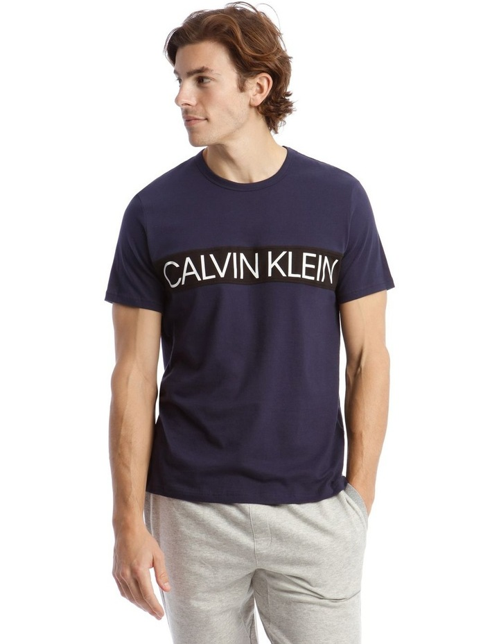 Statement Graphic Sleep Top in Blue image 1