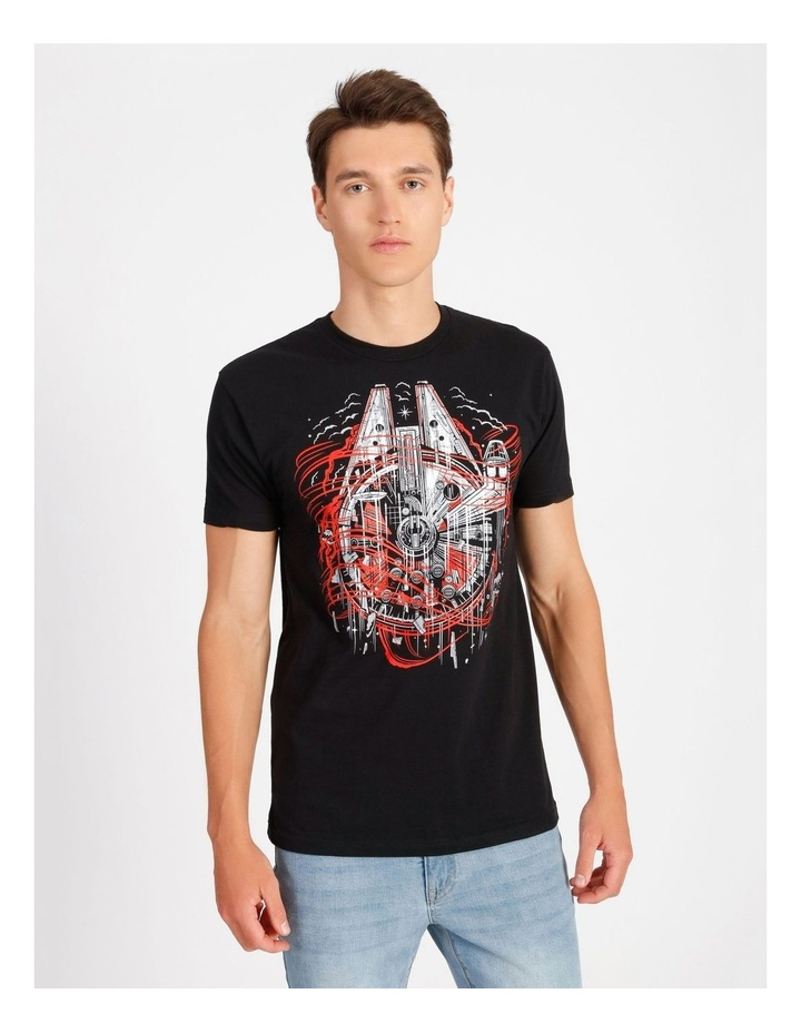 Millennium Falcon T-Shirt By Travis Price image 1