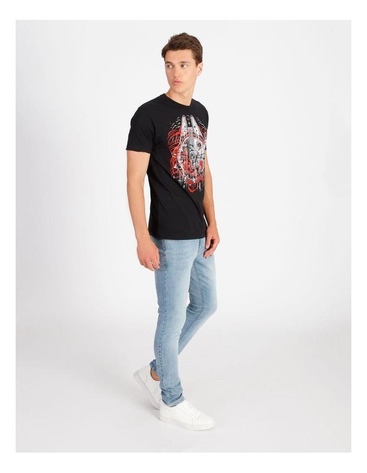 Millennium Falcon T-Shirt By Travis Price image 2