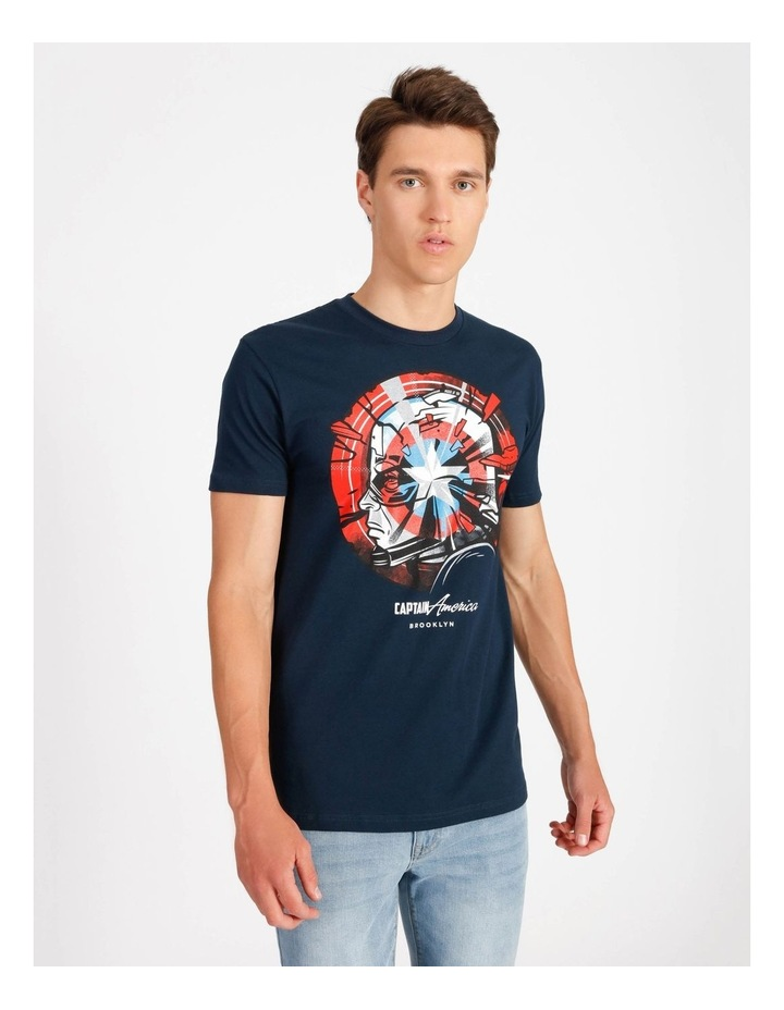 Captain America T-Shirt By Travis Price image 1