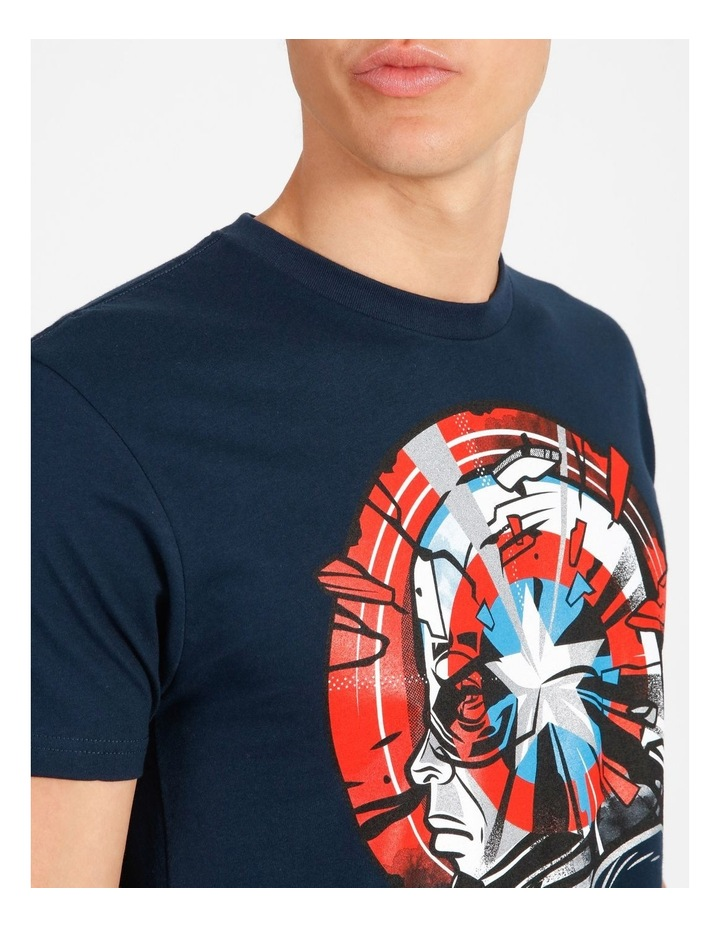 Captain America T-Shirt By Travis Price image 4