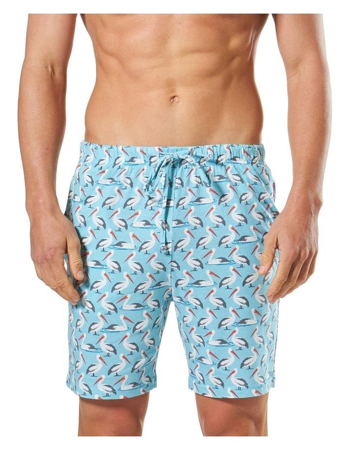 2 Pack Pelican/Llamma Knit Sleep Shorts image 2