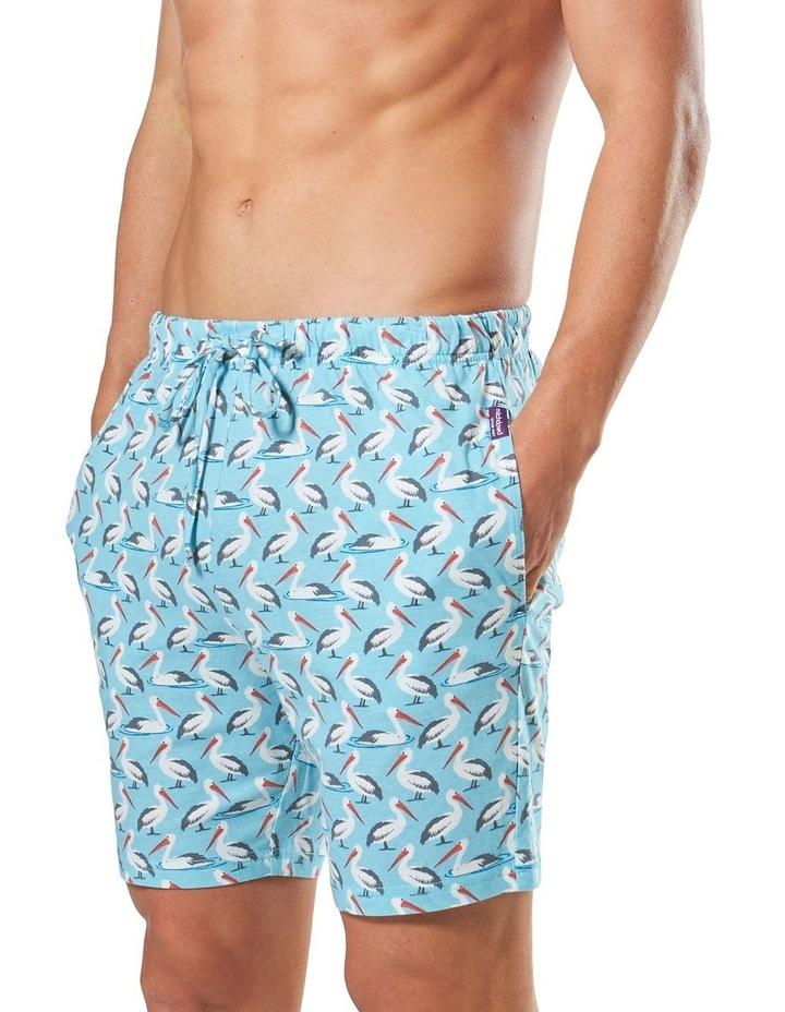 2 Pack Pelican/Llamma Knit Sleep Shorts image 3