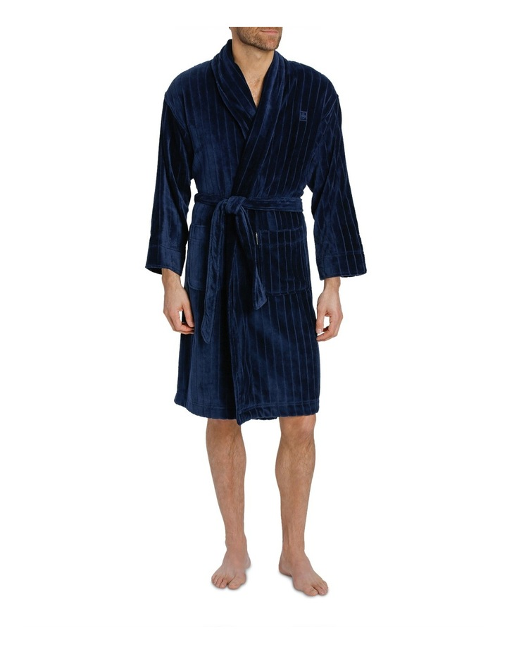 Stripe Terry Velour Dressing Gown image 1