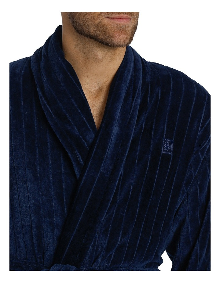 Stripe Terry Velour Dressing Gown image 2