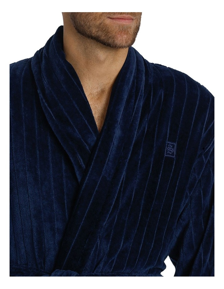 Stripe Terry Velour Dressing Gown image 4