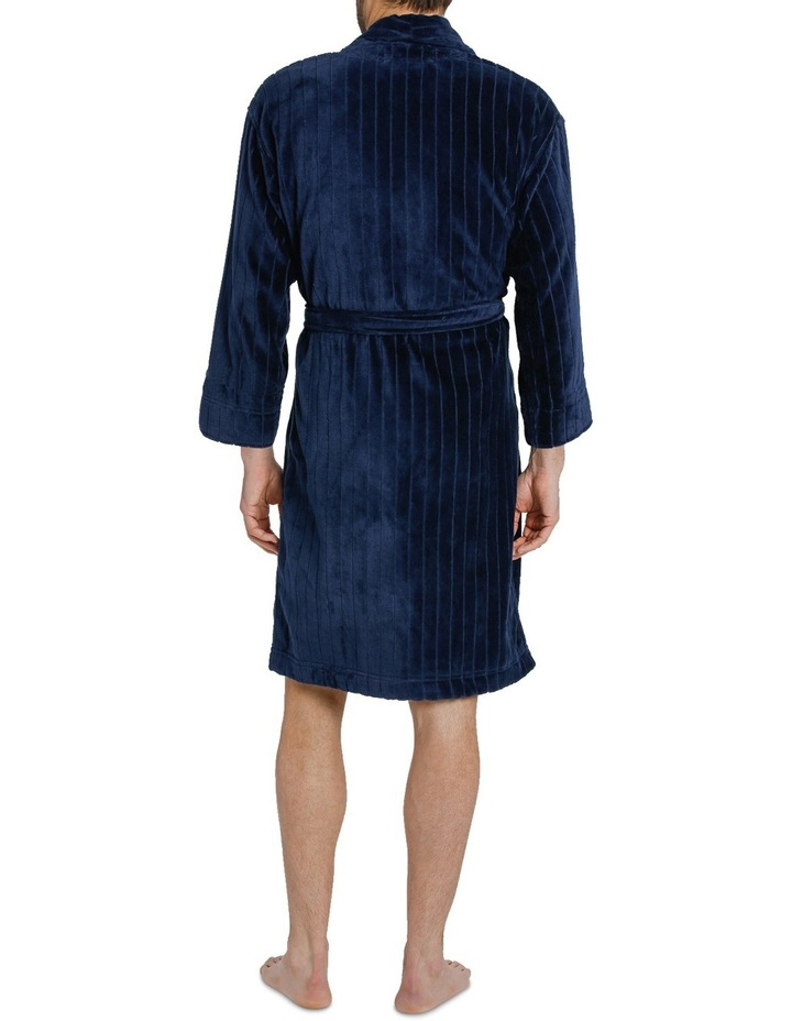 Stripe Terry Velour Dressing Gown image 3