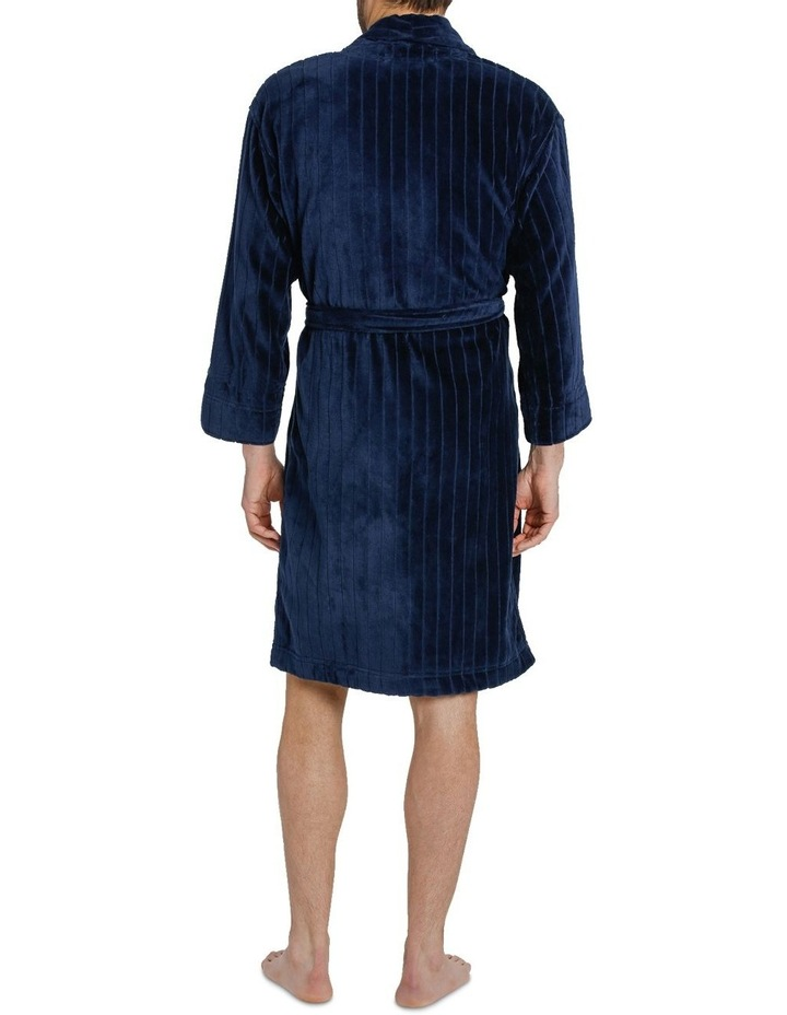 Stripe Terry Velour Dressing Gown image 6