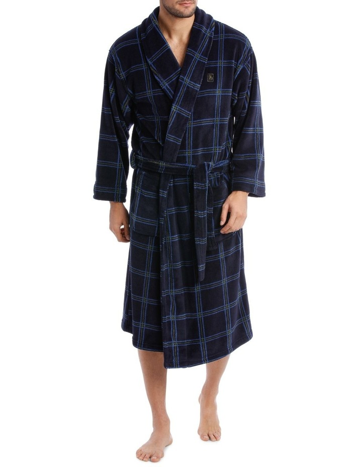 Smartex Shawl Collar Check Dressing Gown image 1