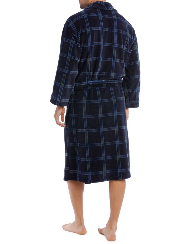 Smartex Shawl Collar Check Dressing Gown image 2