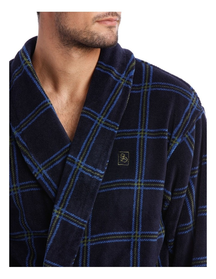 Smartex Shawl Collar Check Dressing Gown image 3