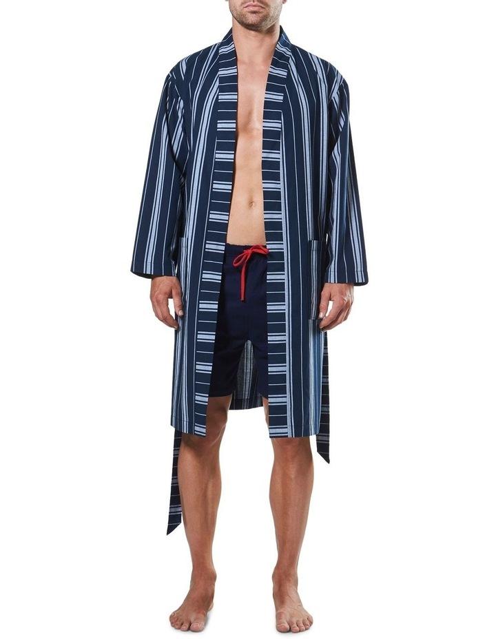 Maine Stripe Woven Yarn Dyed Robe image 4