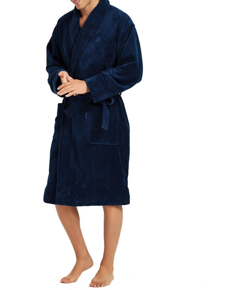 Microfibre Cotton Terry Dressing Gown image 1
