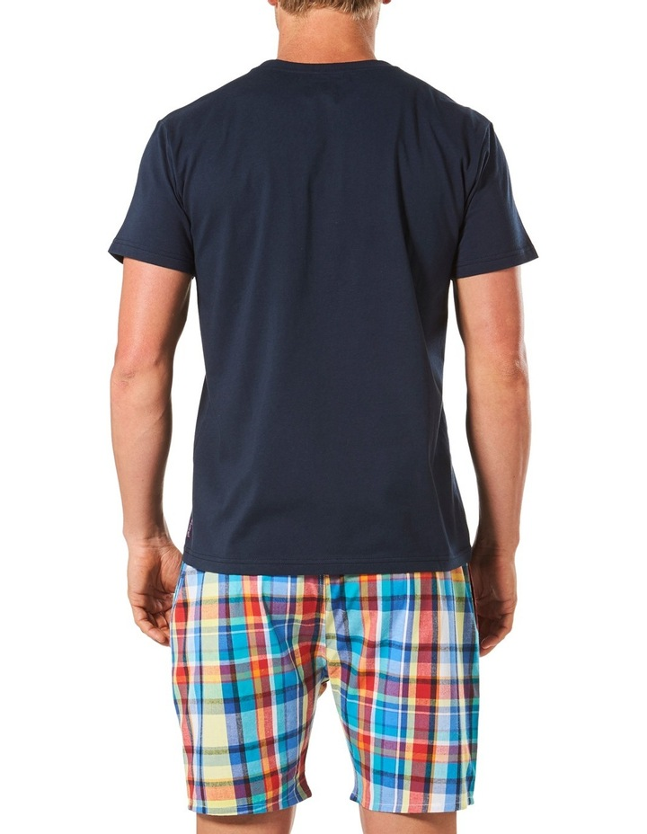Gidget Check Tee & Yarn Dyed Woven Short Sleep Set image 3