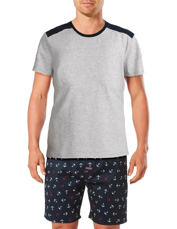Anchor Short Sleeve Tee & Short Pyjama Set Gift Box image 1