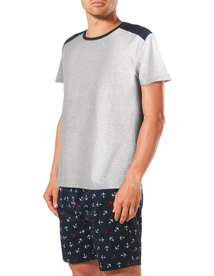 Anchor Short Sleeve Tee & Short Pyjama Set Gift Box image 2