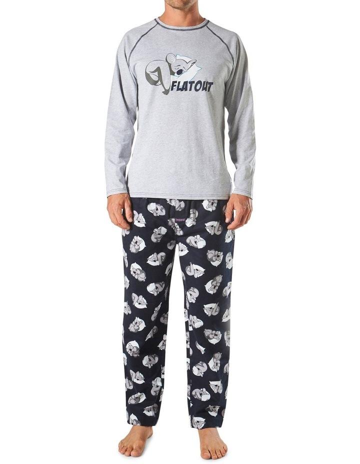 Flat Out Koala Long Sleeve Flannel Sleep Set image 1