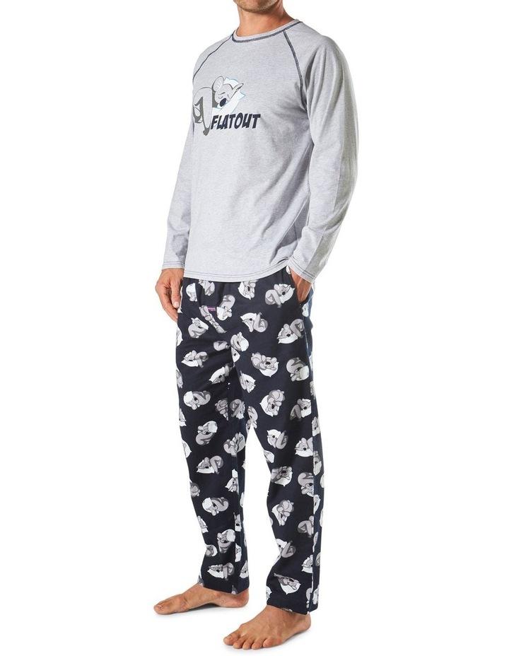Flat Out Koala Long Sleeve Flannel Sleep Set image 2