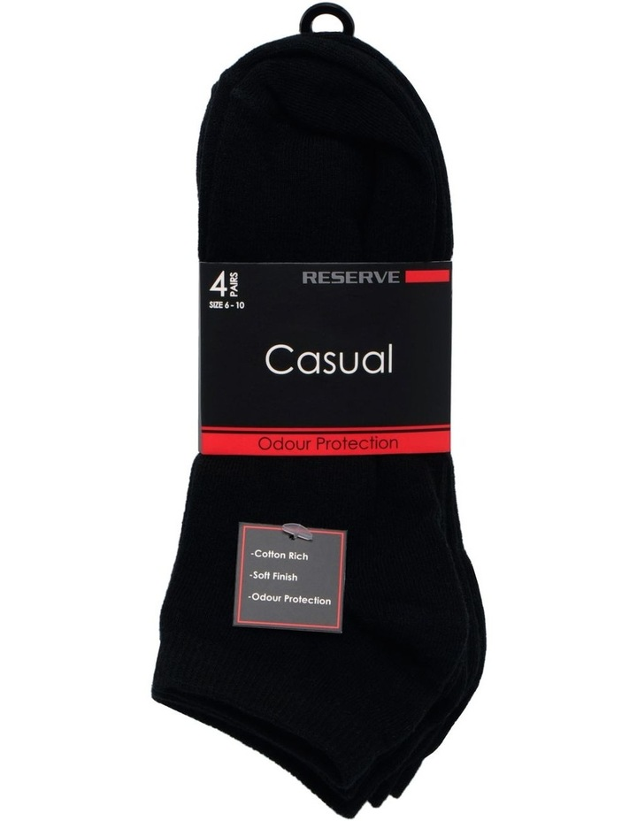 Cotton Casual Low Cut 4 Pack Sock image 1