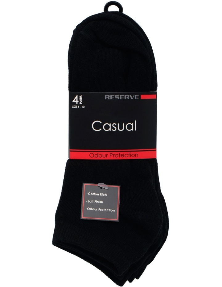 Cotton Casual Low Cut 4 Pack Sock image 2