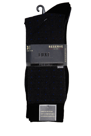Reserve - Luxe Diamond Business Socks 3PK