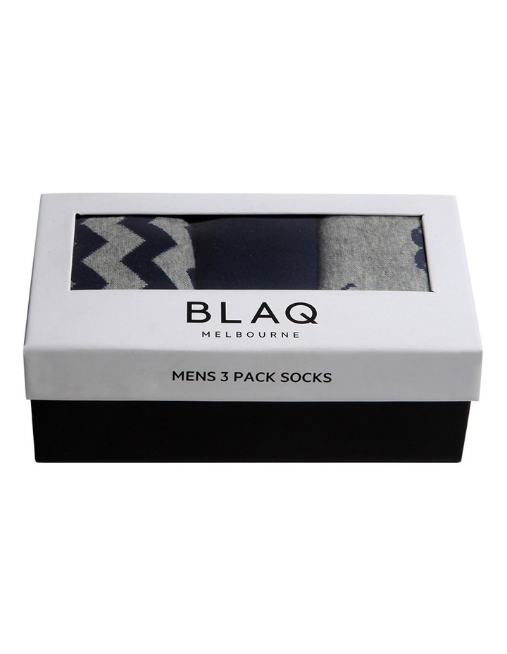 Fun Zig Zag Sock Gift Box 3 Pack image 3