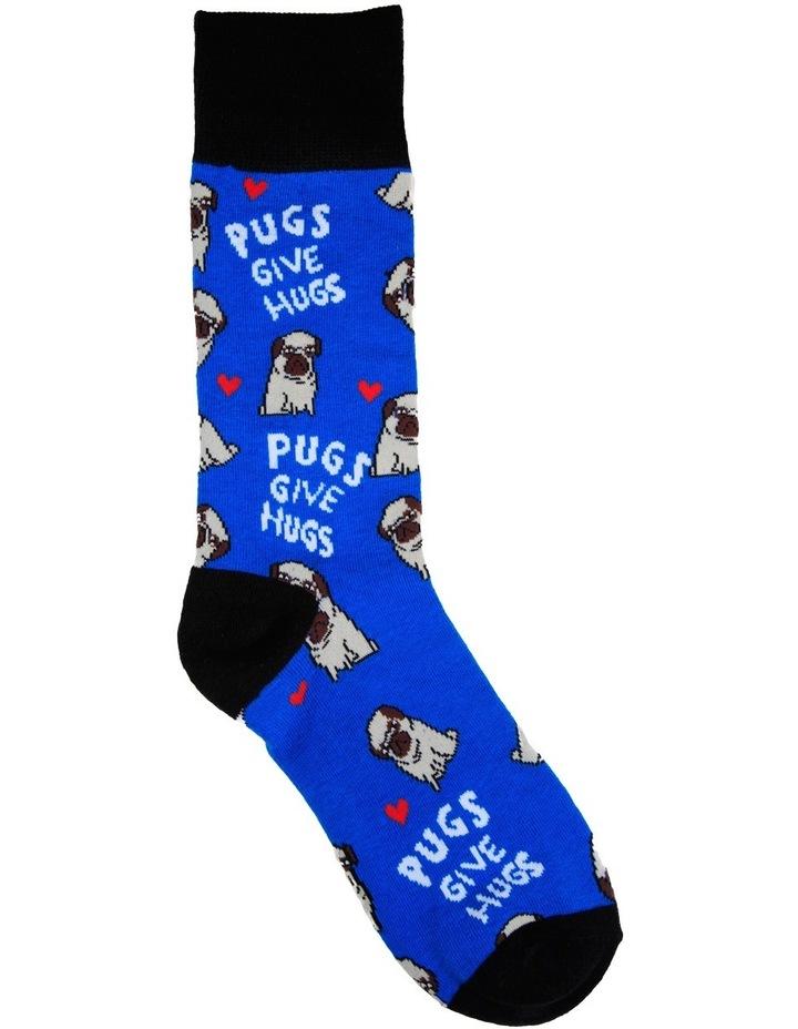 Pugs Give Hugs Crew Sock image 1