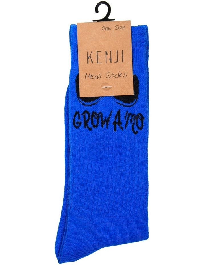 Grow a Mo Crew Sock - Blue image 2