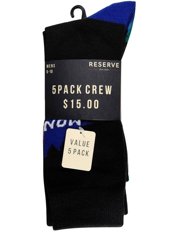 Days of Week Crew Sock 5 Pack image 2