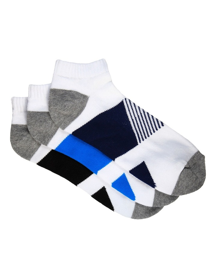 Block 3 Pack Sport Low Cut Sock image 1
