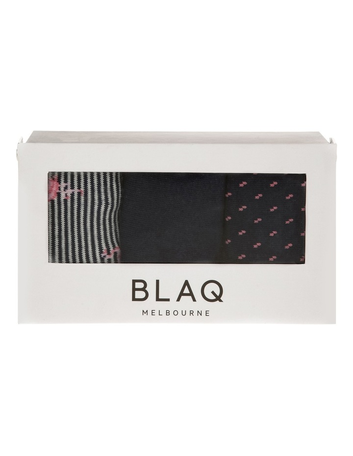 Flamingoes 3 Pack Socks Gift Box image 2