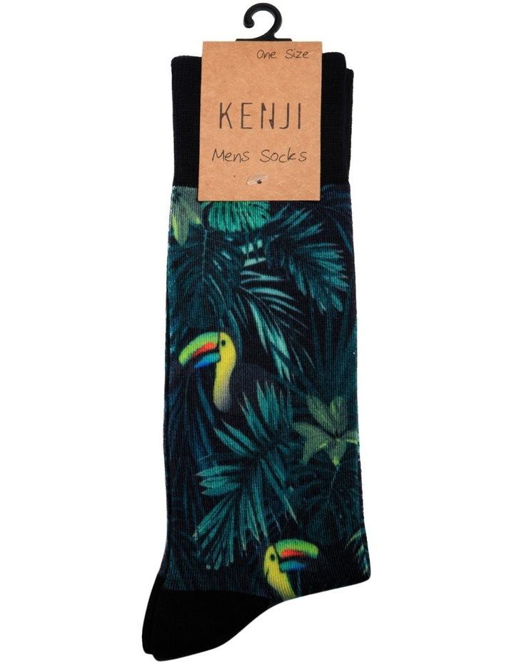 Green Leaf Sublimation Casual Sock image 2