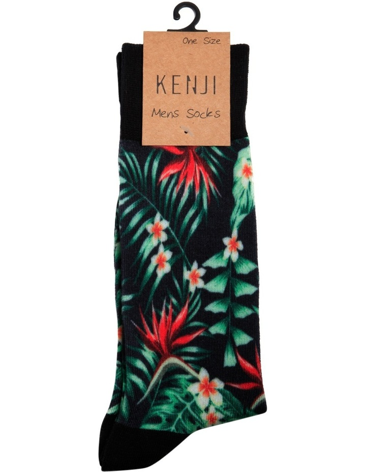 Tropical Floral Sublimation Casual Sock image 2